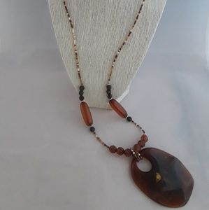 Brown Lucite Necklace